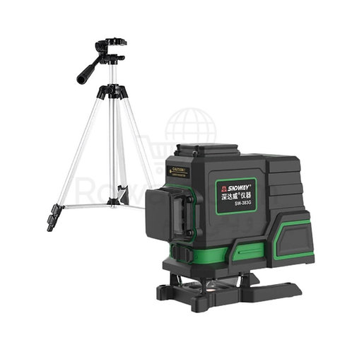 SNDWAY SW-383G Laser Leveling 40m 360°  ميزان شيرب ليزر 3 خط 360 درجة عدسة سفلية