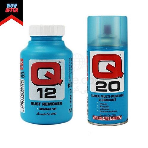 كيو 20 مزيت متعدد الاستخدامات 300 جرام + كيو 12 مزيل الصدأ 200 ملى