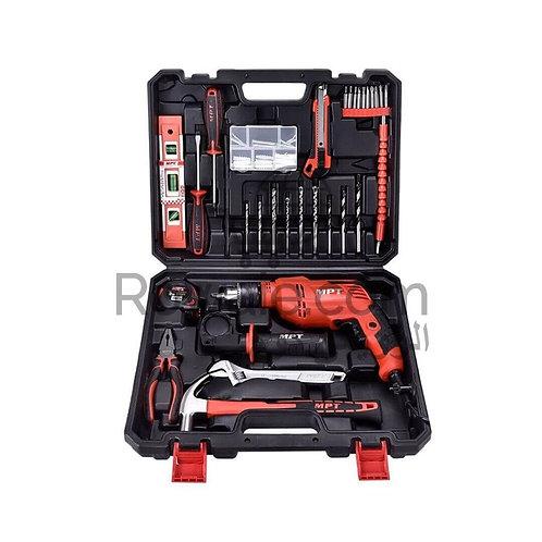 MPT MPTKO1 Impact Drill kit 550W 13mm Tool Set   شنيور بشنطة عدد متكاملة