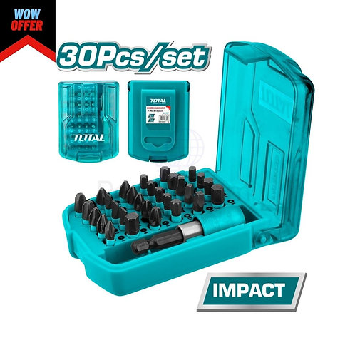 TOTAL IMPACT SCREWDRIVER BITS SET (TACSD18306) 30pcs | طقم سنون تصادمية 30 قطعة
