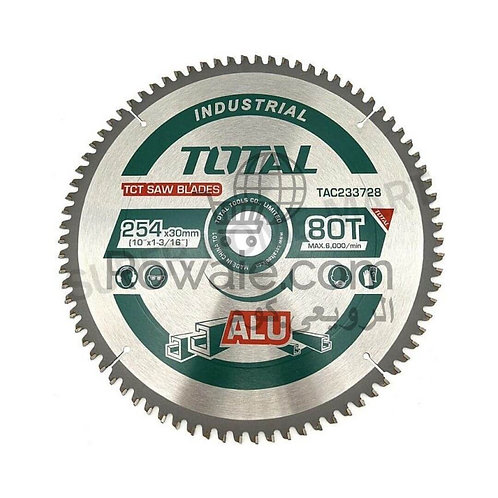 "Total TAC233728 Saw Blade For Aluminum 10"" 80T| سلاح صينية 10 بوصة 80 سنة"
