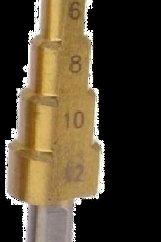 1Pcs HSS 4-12mm Steel Step Drill Bit Large Cone Titanium
