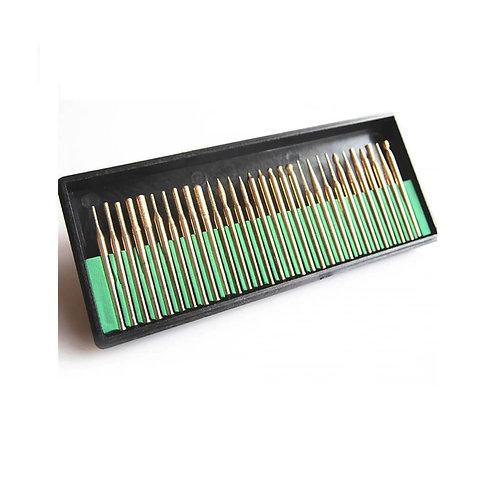 Titanium Diamond Bit Set 3mm 30 Pcs | طقم بنط الماظ للنقش والنحت 30 قطعة 3 ملى