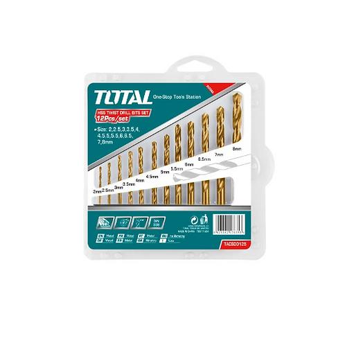 Total TACSD0125 HSS Twist Drill Bits Set 12PCS | طقم بنط حدادى 12 قطعة