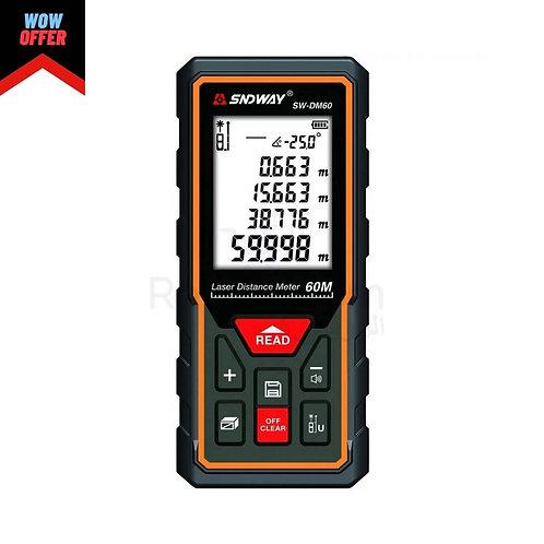 Sndway SW-DM60 Laser Distance 60M |متر ليزر و قياس المسافات وزاوية الميل 60م