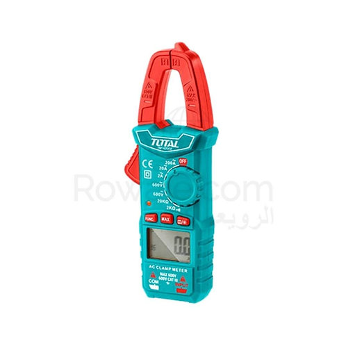 TOTAL TMT42002 Digital AC Clamp Meter | بنسة امبير ديجيتال 600 فولت توتال