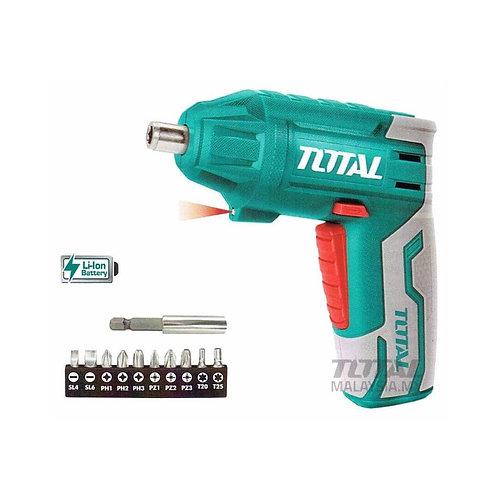 Total TSDLI0401 Cordless Screwdriver 4V | مفك بطارية شحن 4 فولت