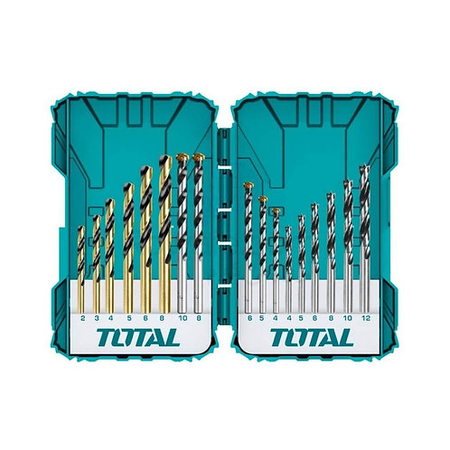 TOTAL TACSDL11601 DRILL BITS SET 16PCS   طقم بنط متنوع 16 قطعة