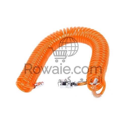 Air Hose 15m With Connectors | خرطوم هواء سوستة 15 متر بالوصلات