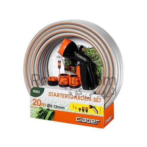 Claber 9053  Starter Garden-Set | مجموعة ري حدائق + استاند بكرة خرطوم كلابر