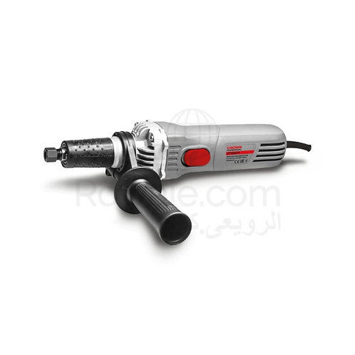 Crown CT13307 Straight grinder 600w 6mm Spindle | صاروخ اصطمبات زور طويل