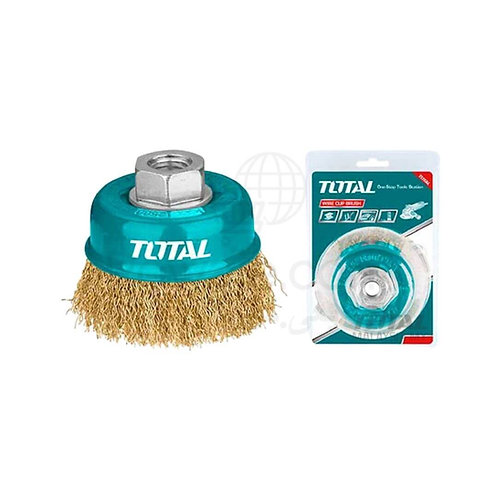 TOTAL TAC31031 WIRE CUP BRUSHES 75mm | فرشة نحاس حرة 3 بوصة