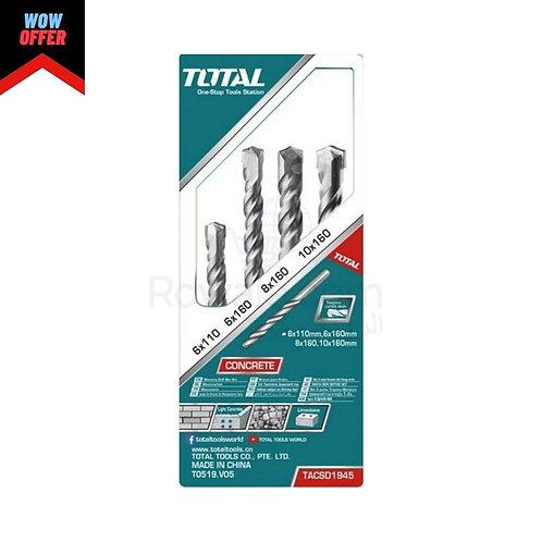 TOTAL TACSD1945 SDS Drill Bits 4Pcs | طقم بنط هيلتي 4 قطع 6-10 ملى