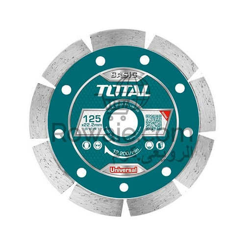 TOTAL TAC2111253 DIAMOND DISC UNIVERSAL 125X7,5MM | الماظة 5 بوصة
