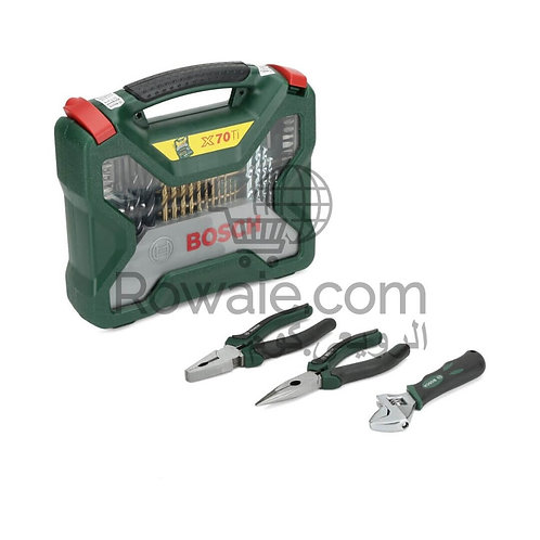 Bosch 2607017197 Accessory Set 70 Piece + 3 Pliers
