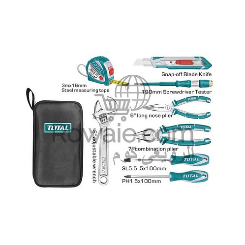 Total THKTHP90096 9 Pcs Handtools Set | طقم عدة 9 قطع
