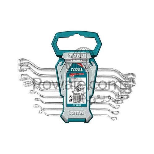 Total Offset Ring Spanner Set 8Pcs 6-22 Mm THT102486 | طقم مفتاح مشرشر زاوية