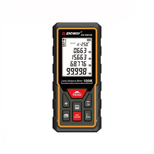 Sndway SW-DM100 Laser Distance Meter, 100 Meter - Black Orange