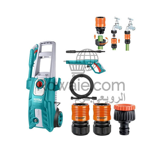 Total TGT11356 Pressure Washer 1800W With Connectors| ماكينة غسيل توتال 1800 وات