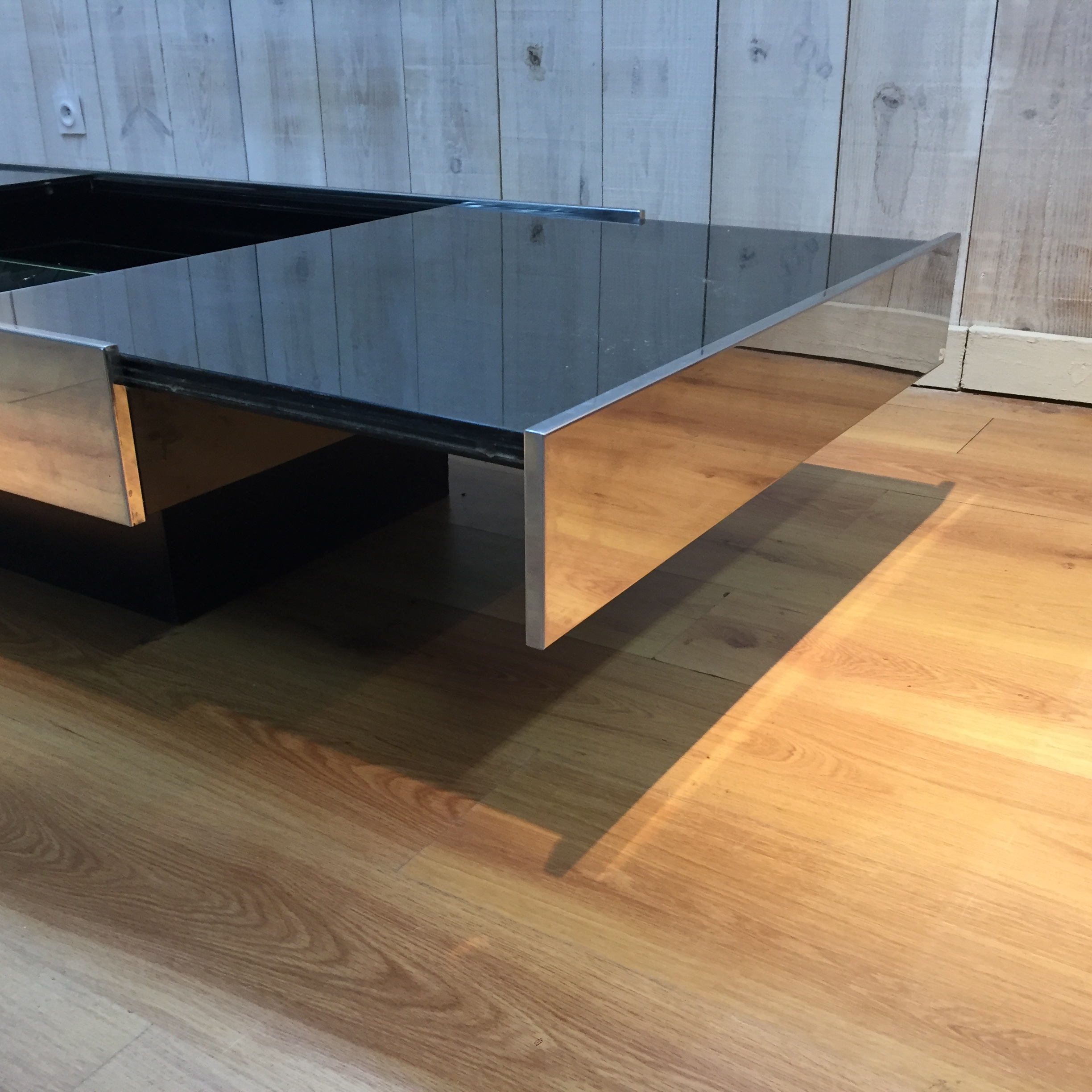 Table basse Willy Rizzo édtion Cidue