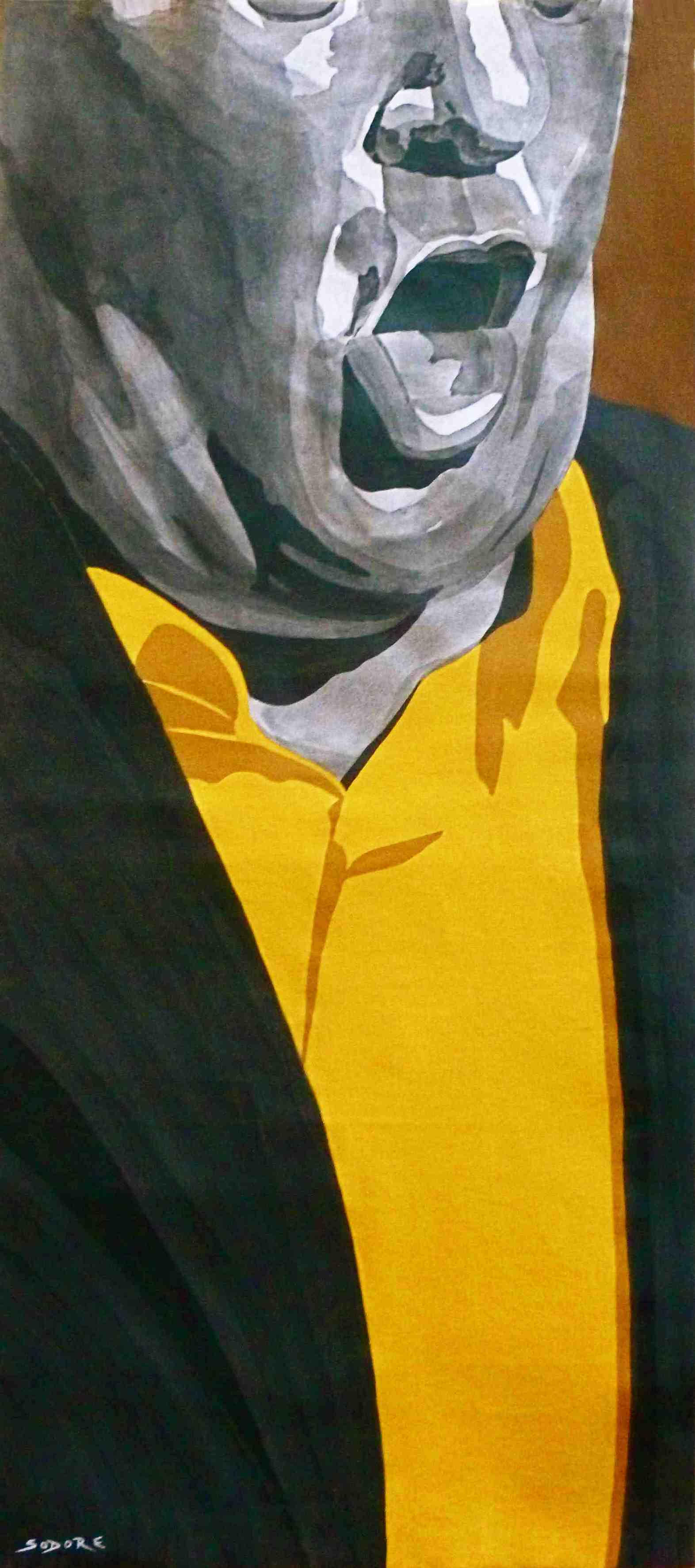 Polo ( Jose Menese ) - 2014 - Acrylique-toile - 122 X 55 cm