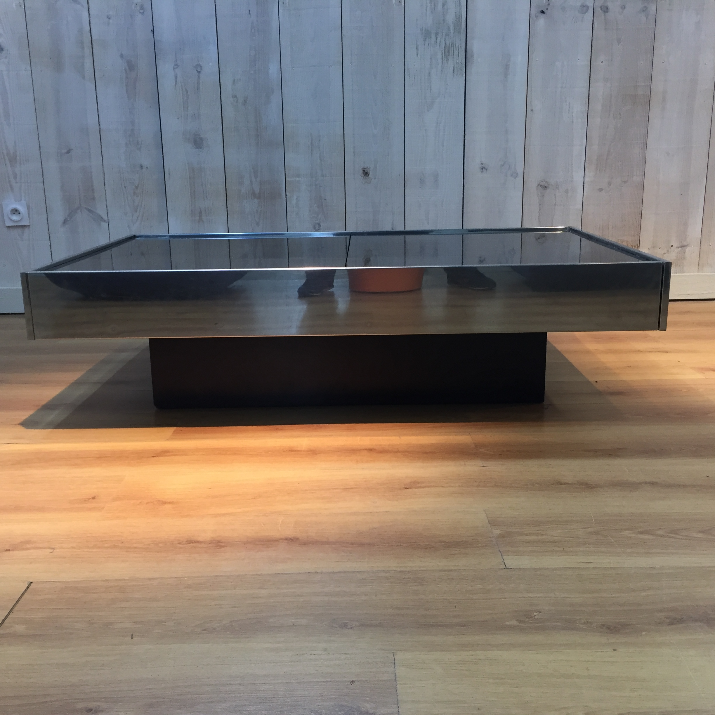 Table basse Willy Rizzo édit Cidue