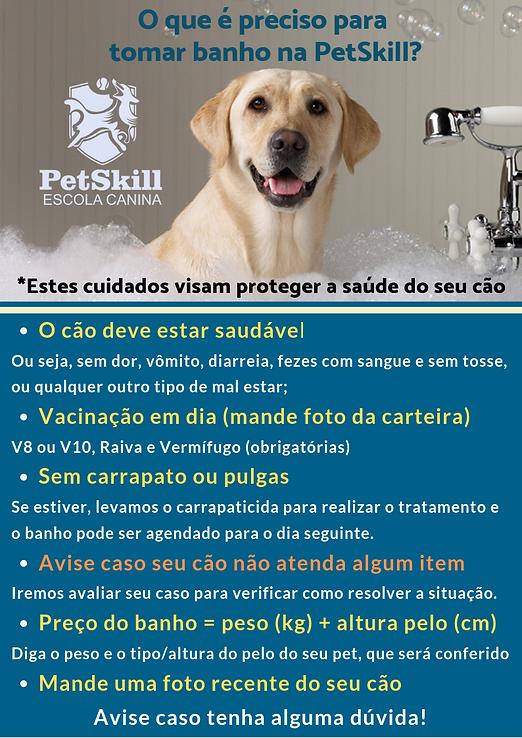 Informações banho e tosa cachorro PetSkill