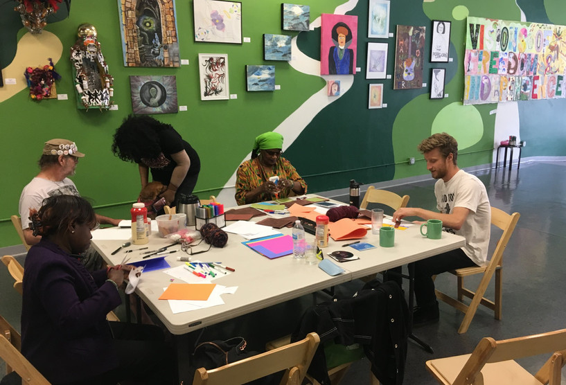 Poetry and Art Book Workshop with Linda at SRHMA