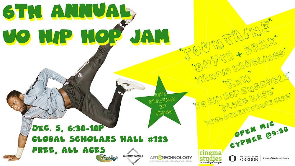 uohip hop jam screen dispay