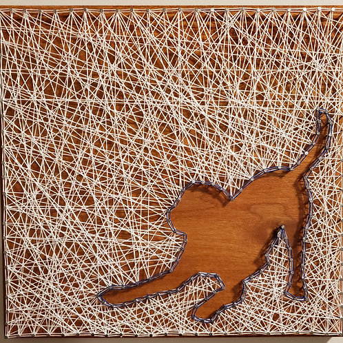 Playful Dog String Art