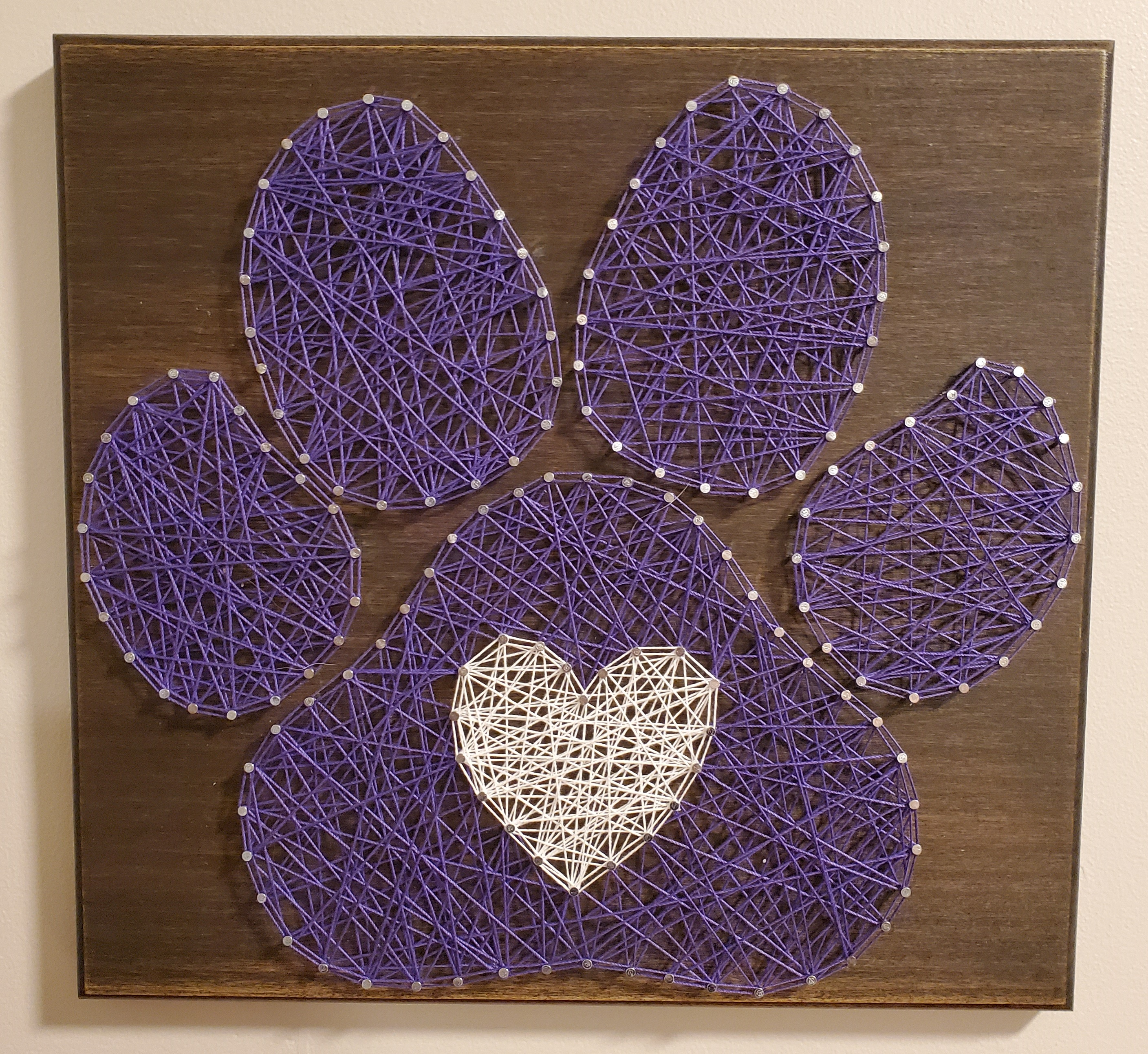 Pawprint String Art