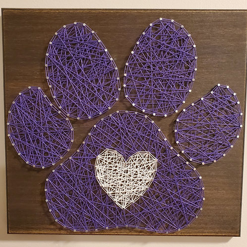 Pawprint w/ Heart String Art