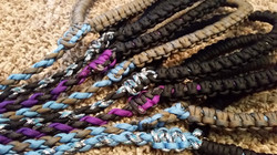 Paracord dog leashes
