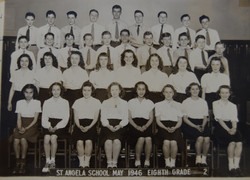 class of 46 8th in classroom