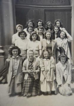 class of 46 7th grade girls
