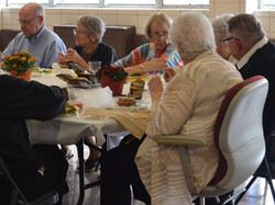 The Class of 46 enjoys lunch