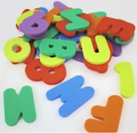 Set números y letras FOAM