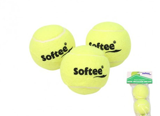 Bolsa 3 pelotas iniciación tenis
