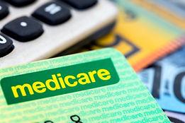 Australian Medicare card with calculator
