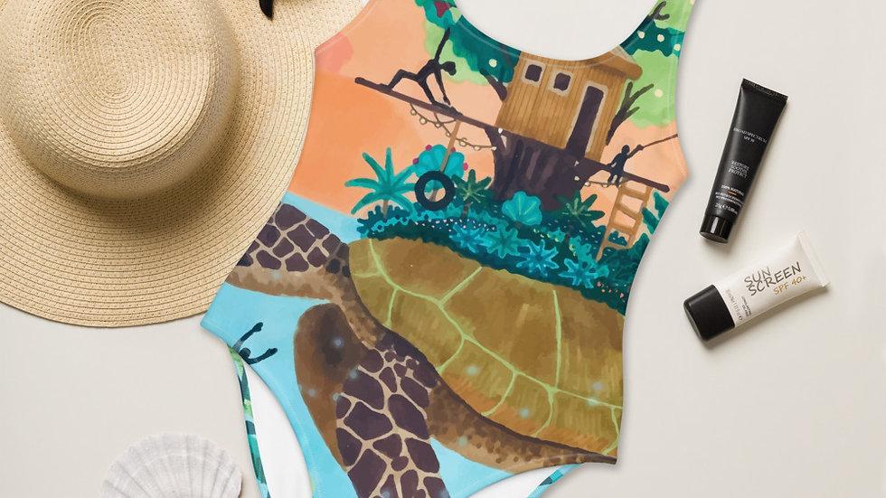 """Dream destination"" - One-Piece Swimsuit"