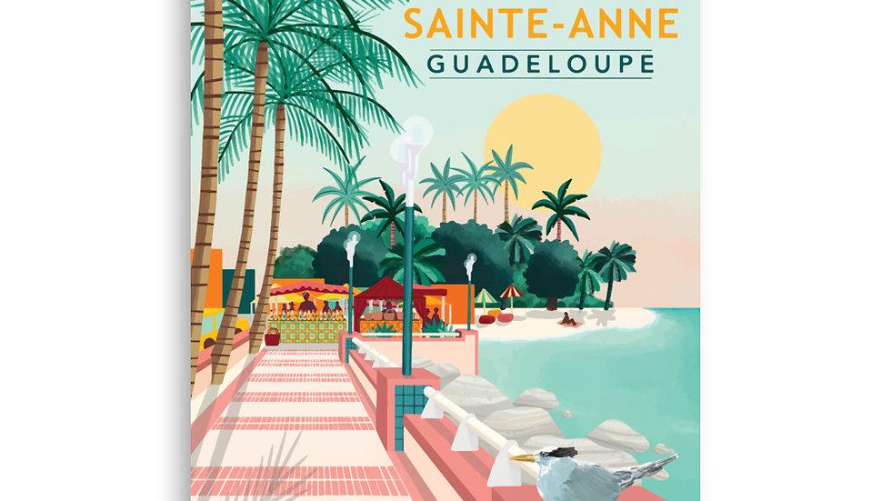 """""""Sainte-Anne Guadeloupe"""" - Poster"""