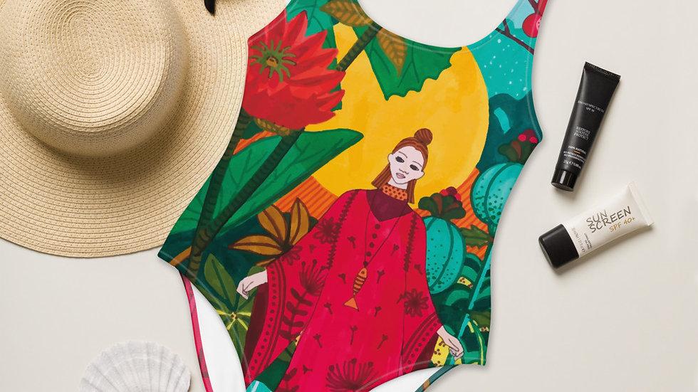 """Japanese garden"" - One-Piece Swimsuit"