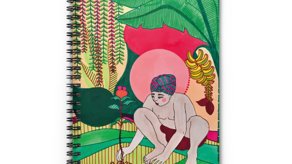 """Seed growth"" - Spiral Notebook"