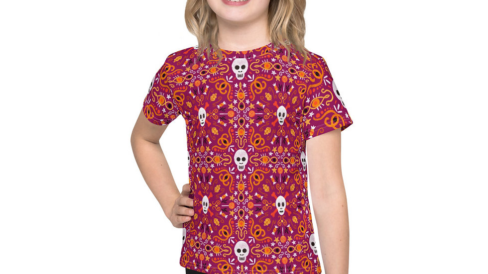 """Skull Mandala Purple"" - Kids T-Shirt"