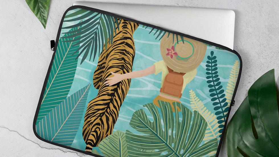 """Tiger travel companion"" - Laptop Sleeve"