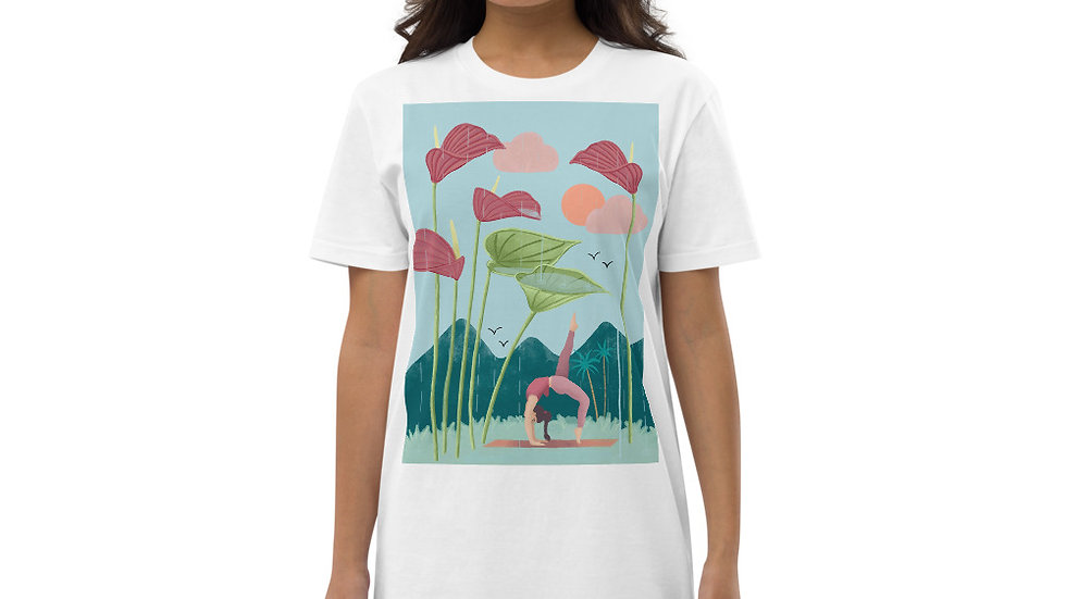 """Nature yoga"" - Organic cotton t-shirt dress"