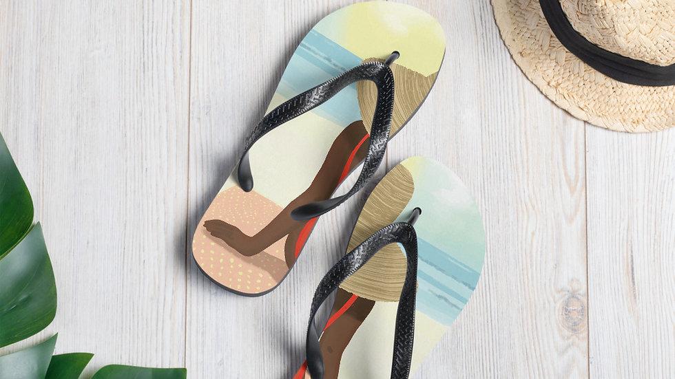 """Guadeloupe sunset white"" - Flip-Flops"