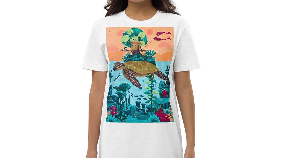 """""""Dream destination"""" - Organic cotton T-Shirt dress"""