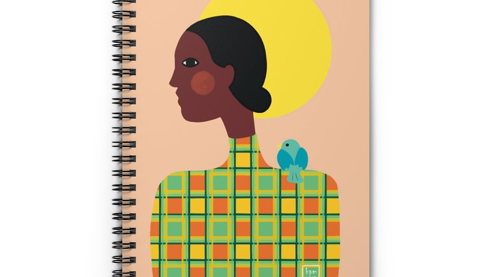 """Picasso M"" - Spiral Notebook"