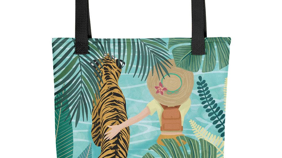 """Tiger travel companion"" - Tote bag"